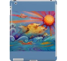 rainbow dolphins iPad Case/Skin