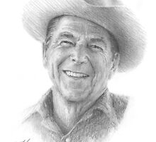 Ronald Reagan by Mike Theuer