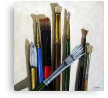 Artists Brushes still life oil painting Canvas Print