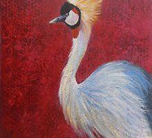 Crowned Crane by Susan Duffey