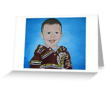 Lyric / portrait of my grandson Greeting Card