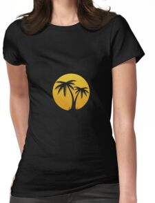 Summertime: Palm Tree Womens Fitted T-Shirt