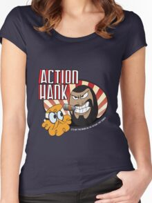 Action Hank says Women's Fitted Scoop T-Shirt