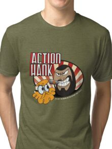 Action Hank says Tri-blend T-Shirt