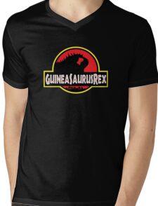 Guineasaurusrex Mens V-Neck T-Shirt