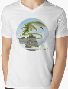 Dragon of Clouds Mens V-Neck T-Shirt