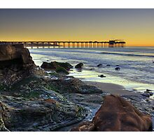 The Scripps Pier Before sunrise Photographic Print