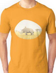 The Rhino and the Bird Unisex T-Shirt
