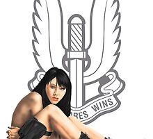 SAS Black Ops Pinup by MilitaryPinups