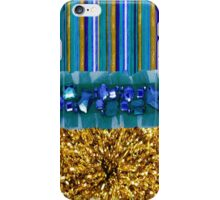 pinstripe jeweled metallic burst iPhone case iPhone Case/Skin