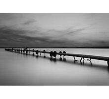 Dock on Higgins Lake, Michigan Photographic Print