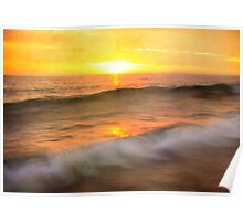 """""""Two waves at Sunrise"""" Poster"""