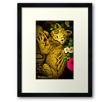 Garden dragon Framed Print