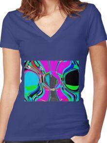 The Artist's Brush Women's Fitted V-Neck T-Shirt