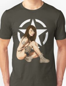 US Army MP Pinup Star Unisex T-Shirt