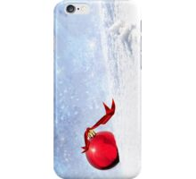 Christmas Background With Red Bauble In The Snow iPhone Case/Skin