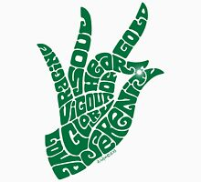 Heart Hand in Emerald Green, Large Version Unisex T-Shirt