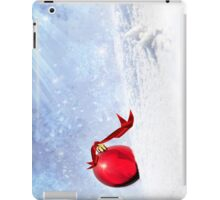 Christmas Background With Red Bauble In The Snow iPad Case/Skin