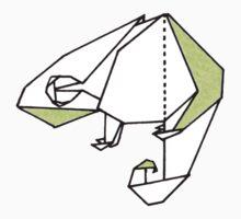 Origami Chameleon Kids Tee