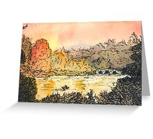 River and Autumn Trees Greeting Card