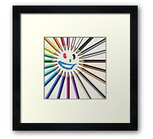 Buntstift Sonne Framed Print
