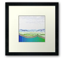 Buntstifte Landschaft Framed Print