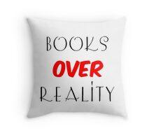 Books over Reality Throw Pillow