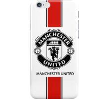 manchester united black line iPhone Case/Skin