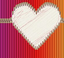 Buntstifte Herz by Sandra Höfer