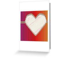 Buntstifte Herz Greeting Card