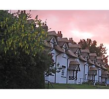 The old thatched cottages Warter Photographic Print