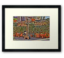 Pondering In Tlaquepaque Village  Framed Print
