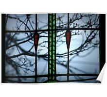 Thru stained glass Poster