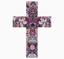 Floral Kaleidoscope - Cross T-Shirt