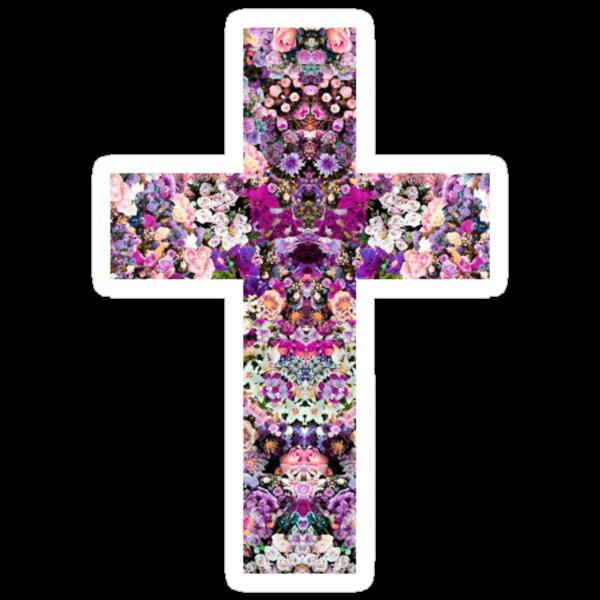 Floral Kaleidoscope - Cross by hunnydoll