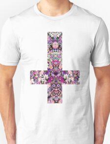 Floral Kaleidoscope - Inverted Cross T-Shirt