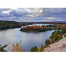 Fall Colors on the Au Sable River from the Dune Overlook Photographic Print