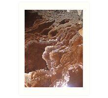 Gour pools encrusted on a mining tramline, Washington mine, western Tasmania Art Print