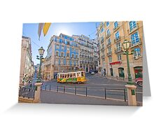 the beautiful light of Lisbon Greeting Card