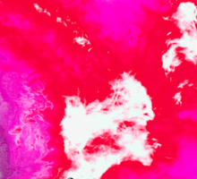 Pink and red phoenix Sticker