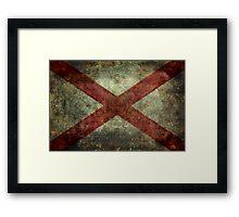 Alabama state flag Framed Print
