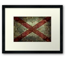 Alabama state flag Framed Print