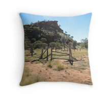Kathleen Springs old Stockyard for cattle. Northern Territory. Aust. Throw Pillow