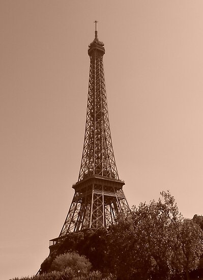 Eiffel Tower Paris  by Faye Masters