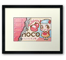 bessette strawberry-choco Framed Print