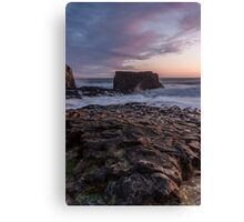Dusk at Davenport - California Coast Canvas Print