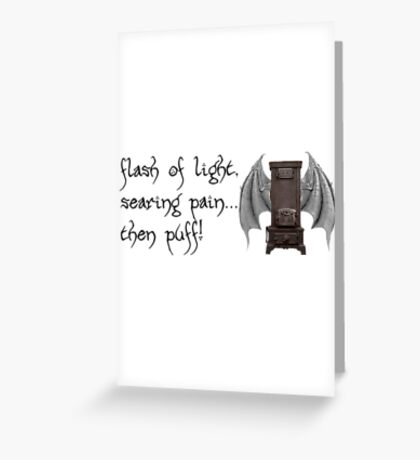 Think Furnace With Wings Greeting Card