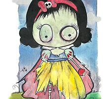 Zombie Snow White by gabiandrade