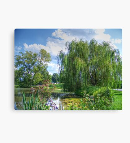 Willow Beside The Lake Canvas Print