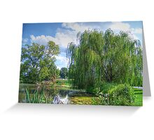 Willow Beside The Lake Greeting Card